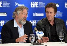 "<p>U.S. actor Robert De Niro speaks beside actor Edward Norton (R) during the news conference for the film ""Stone"" at the 35th Toronto International Film Festival September 10, 2010. REUTERS/Mike Cassese</p>"