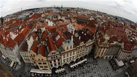 <p>A view of Prague's historical centre from the Old Town Hall Tower, September 3, 2010. REUTERS/Petr Josek</p>