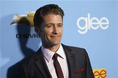 "<p>Cast member Matthew Morrison poses at the premiere of the second season of the television series ""Glee"" at Paramount studios in Los Angeles September 7, 2010. REUTERS/Mario Anzuoni</p>"