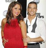 "<p>Bristol Palin and professional dancing partner Mark Ballas pose backstage after the premiere of ABC's series ""Dancing with the Stars Season 11"" in Los Angeles, September 20, 2010. REUTERS/Fred Prouser</p>"