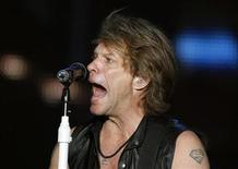 "<p>Jon Bon Jovi performs during the ""Rock in Rio"" music festival in Arganda del Rey near Madrid June 4, 2010. REUTERS/Andrea Comas</p>"