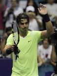 <p>Rafael Nadal depois de vitória contra Mikhail Kukushkin no Aberto da Tailândia. 01/10/2010 REUTERS/Chaiwat Subprasom</p>