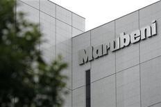 <p>Imagen de archivo del lojo de Marubeni Corp en una oficina en Tokio. Jul 27 2009 La firma japonesa Marubeni Corp dijo que anunciaría una empresa conjunta con Google Inc y con otras compañías para desarrollar una red de cables submarina para generar energía en la costa atlántica de Estados Unidos. REUTERS/Stringer/ARCHIVO</p>