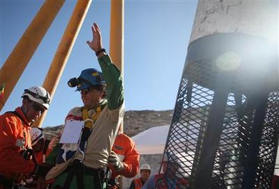 Chilean miners rescued after 69 days underground