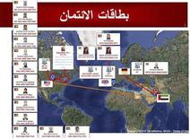 <p>The travel ports of entry and exit of suspects is seen in this handout picture released by Dubai police February 24, 2010. REUTERS/Dubai Police/Handout</p>