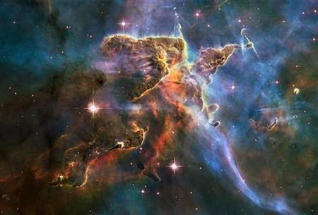 The Carina Nebula, located 7,500 light-years away from Earth, in an image taken by the NASA Hubble Space Telescope in February 2010. REUTERS/NASA/Handout