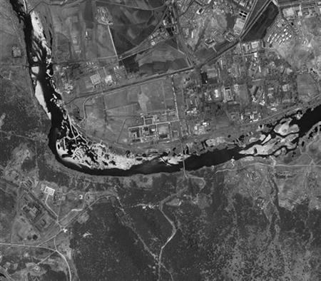 A satellite image of Yongbyon, North Korea, released by DigitalGlobe in May 2009. REUTERS/DigitalGlobe/Handout