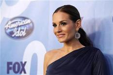 <p>Kara DioGuardi poses backstage during the 9th season finale of 'American Idol' in Los Angeles May 26, 2010. REUTERS/Mario Anzuoni</p>
