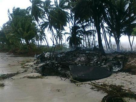 Debris is seen on Sipora island October 26, 2010 after a 7.5 magnitude quake hit 78 km (48 mi) west of South Pagai, one of the Mentawai islands, late on Monday. REUTERS/Handout/Special