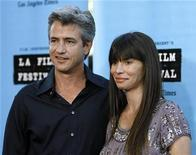 "<p>Actor Dermot Mulroney and Tharita Catulle pose at the 2009 Los Angeles Film Festival world premiere of ""Paper Man"" at the Mann Village theatre in Westwood, California June 18, 2009. REUTERS/Mario Anzuoni</p>"
