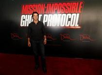"""<p>Tom Cruise durante coletiva de imprensa em Dubai para promover o quarto filme de """"Missão Impossível"""". 28/10/2010 REUTERS/ Ahmed Jadallah</p>"""