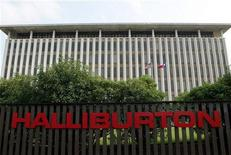 <p>Штаб-квартира компании Halliburton в пригороде Хьюстона 9 мая 2003 года. Нефтяная компания Halliburton Co. использовала некачественный цемент на разрушенной взрывом скважине нефтяной компании BP Plc в Мексиканском заливе, ставшей причиной сильнейшего в истории США разлива нефти, считают эксперты Белого дома. REUTERS/STR New</p>