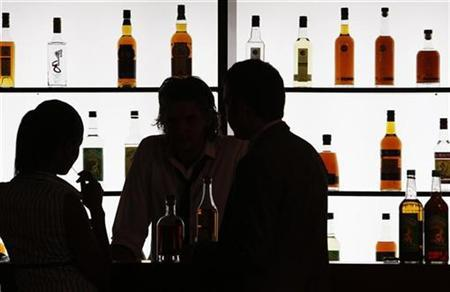 Wine merchants at the world's biggest wine fair in a file photo. REUTERS/Regis Duvignau