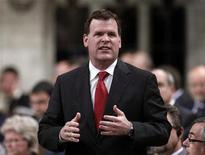 <p>Government House Leader John Baird speaks during Question Period in the House of Commons on Parliament Hill in Ottawa September 21, 2010. REUTERS/Chris Wattie</p>