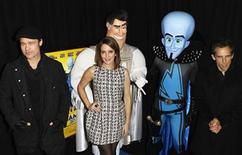 "<p>Cast members (L-R) Brad Pitt, Tina Fey, and Ben Stiller arrive for the premiere of the film ""Megamind"" in New York November 3, 2010. REUTERS/Lucas Jackson</p>"
