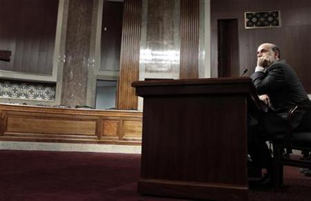 Federal Reserve Board Chairman Ben Bernanke testifies on Capitol Hill, July 21, 2010. REUTERS/Molly Riley