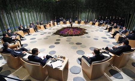 Blick auf den Sitzungssal des APEC-Gipfels in Yokohama am 14. November 2010. REUTERS/Japan Foreign Ministry/Handout