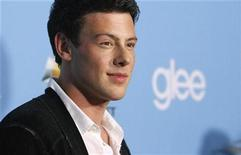 "<p>Cast member Cory Monteith poses at the premiere of the second season of the television series ""Glee"" at Paramount studios in Los Angeles September 7, 2010. REUTERS/Mario Anzuoni</p>"