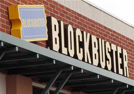 A Blockbuster movie rental store is seen in Golden, Colorado September 16, 2009. Top U.S. movie rental chain Blockbuster Inc, which is facing tough competition from Netflix Inc and Coinstar Inc's Redbox, plans to close up to 960 stores by the end of next year. REUTERS/Rick Wilking