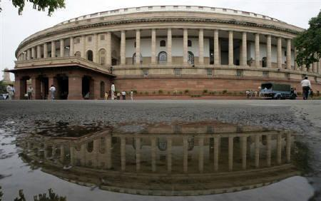 A view of the parliament building is seen on the opening day of the budget session in New Delhi July 2, 2009. REUTERS/B Mathur/Files