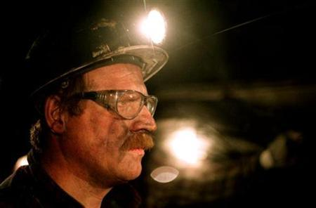 A French coalminer in a file photo. REUTERS/Vincent Kessler