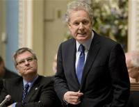 <p>Quebec's Premier Jean Charest speaks during the questions period at the National Assembly in Quebec City, November 16, 2010. REUTERS/Jacques Boissinot/Pool</p>
