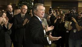 <p>Newfoundland and Labrador Premier Danny Williams announces his retirement from politics in St. John's, Newfoundland on Thursday, Novermber 25, 2010. REUTERS/Greg Locke</p>