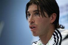 <p>Sergio Ramos do Real Madrid durante coletiva de imprensa em Valdebebas. 01/12/2010 REUTERS/Andrea Comas</p>