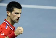 <p>Tenista Novak Djokovic empatou final da Copa Davis entre Sérvia e França. REUTERS/Marko Djurica</p>