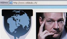 <p>Скрин-шот сайта WikiLeaks и ее основателя Джулиана Ассанжа, Цюрих 4 декабря 2010 года. Полиция Великобритании во вторник арестовала основателя скандально известного сайта WikiLeaks Джулиана Ассанжа на основании европейского ордера, выданного Швецией. REUTERS/Christian Hartmann</p>