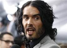 """<p>Cast member Russell Brand is interviewed at the premiere of his film """"The Tempest"""" in Hollywood December 6, 2010. REUTERS/Fred Prouser</p>"""