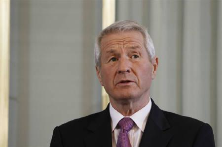 Thorbjorn Jagland, chairman of the Norwegian Nobel Committee, speaks at a news conference at the Nobel Institute in Oslo December 9, 2010. REUTERS/Hakon Mosvold Larsen/Scanpix Norway