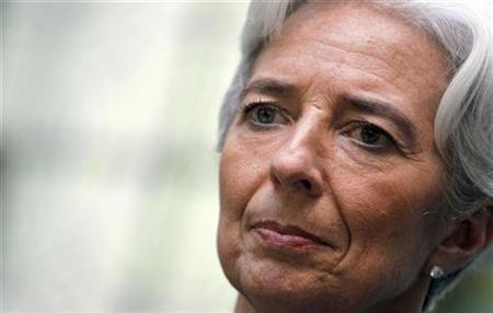 Frankreichs Finanzministerin Christine Lagarde während einer Pressekonferenz in Bordeaux am 8. November 2010. REUTERS/Regis Duvignau