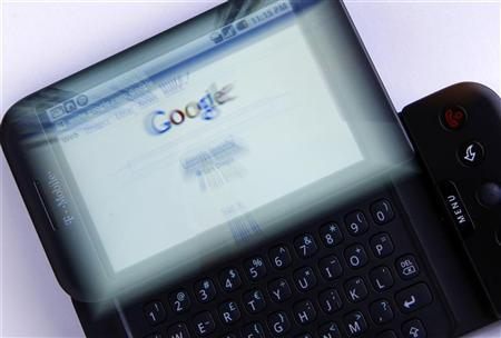 A T-Mobile G1 Google phone running Android is shown photographed in Encinitas, California January 20, 2010. G REUTERS/Mike Blake