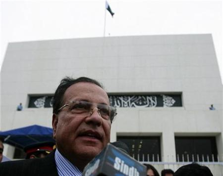 Salman Taseer, Pakistan's Governor of Punjab province, speaks to media in Islamabad in this March 28, 2009 file photo. REUTERS/Faisal Mahmood