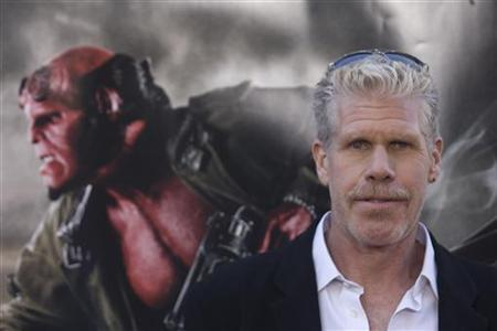 Actor Ron Perlman poses for photographers during the premiere of the movie ''Hellboy II The Golden Army'' in Los Angeles, California, in this June 28, 2008 file photo. REUTERS / Hector Mata