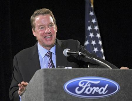 Ford Motor Company Executive Chairman Bill Ford Jr. speaks to the Livonia Chamber of Commerce on American competitiveness in a global economy in Livonia, Michigan, February 16, 2010. REUTERS/Sam VarnHagen/Ford Motor Co/Handout