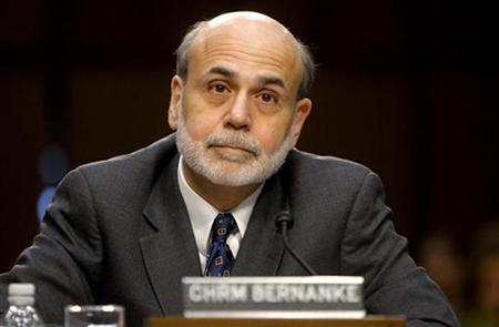 Federal Reserve Board Chairman Ben Bernanke reacts to the opening comments of ranking Republican member of the Senate Budget Committee Senator Jeff Sessions as Bernanke testifies in front of the committee on ''The U.S. Economic Outlook: Challenges for Monetary and Fiscal Policy'' on Capitol Hill in Washington, January 7, 2011. REUTERS/Jim Bourg