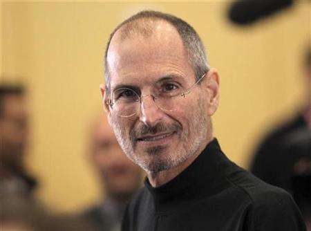 Apple-Chef Steve Jobs auf der Apple Worldwide Developers Conference in San Francisco am 7. Juni 2010. REUTERS/Robert Galraith