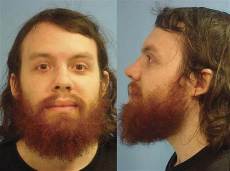 Andrew Auernheimer in a booking photo taken by the Fayetteville, Arkansas Police Department in June 2010. REUTERS/Fayetteville Police/Handout