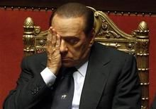 <p>Italian Prime Minister Silvio Berlusconi attends a session at the Senate in Rome December 14, 2010. REUTERS/Tony Gentile</p>