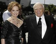 <p>Actor Ernest Borgnine (R) and his wife Tova Borgnine arrive at the 2009 Primetime Creative Arts Emmy Awards in Los Angeles, September 12, 2009. REUTERS/Danny Moloshok</p>