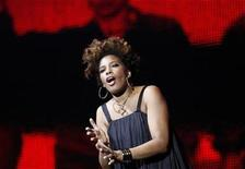"<p>U.S. singer Macy Gray performs during multimedia performance directed by Robert Wilson titled ""Solidarity. Freedom is the Name of Your Angel!"" at Gdansk Shipyard August 31, 2010. REUTERS/Peter Andrews</p>"