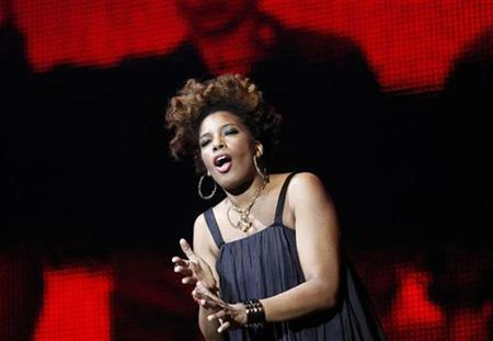 U.S. singer Macy Gray performs during multimedia performance directed by Robert Wilson titled ''Solidarity. Freedom is the Name of Your Angel!'' at Gdansk Shipyard August 31, 2010. REUTERS/Peter Andrews