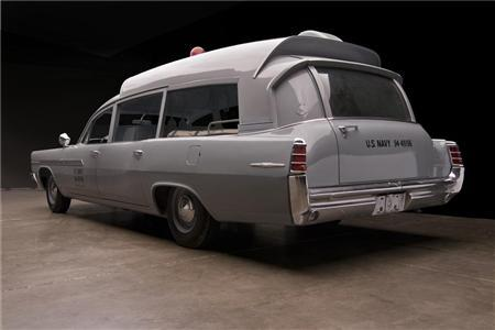 A 1963 gray Pontiac Bonneville Navy ambulance in a photo courtesy of Barrett-Jackson. REUTERS/Barrett-Jackson