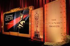<p>Palco de divilguação dos indicados ao Oscar em Beverly Hills. 25/01/2011 REUTERS/Phil McCarten</p>