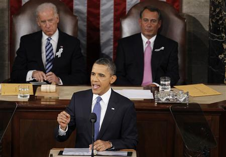 President Obama delivers his State of the Union address to a joint session of Congress on Capitol Hill, January 25, 2011. REUTERS/Jason Reed