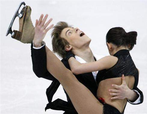 Figure skating contortions