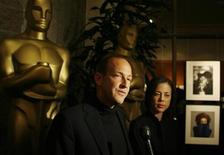 "<p>Director Charles Ferguson (L) and producer Audrey Marrs of ""No End in Sight"", which is nominated for an Oscar as Best Documentary Feature, are interviewed at the International Documentary Association's annual celebration of the Academy Awards Documentary nominees in Beverly Hills, California February 20, 2008. REUTERS/Fred Prouser</p>"