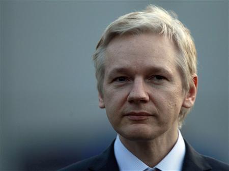 WikiLeaks founder Julian Assange speaks outside Belmarsh Magistrates Court, in east London February 7, 2011. REUTERS/Andrew Winning